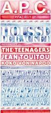 A.P.C. PERFORMANCE: HOUSSE DE RACKET, the Teenagers & Koko Von Napoo